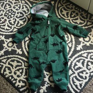 Carter's hooded fleece zip up size 6-9 mon